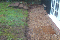Grey Sandstone & new sleepers Before