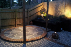 Slate circle, Granite setts & Cobbles After