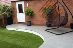 Smooth Granite paving After