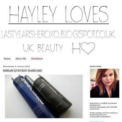 Hayley Loves review of Miriam Quevedo