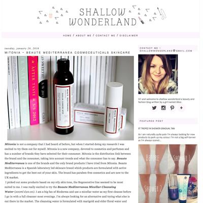 Mitonia featured on shallow wonderland blog