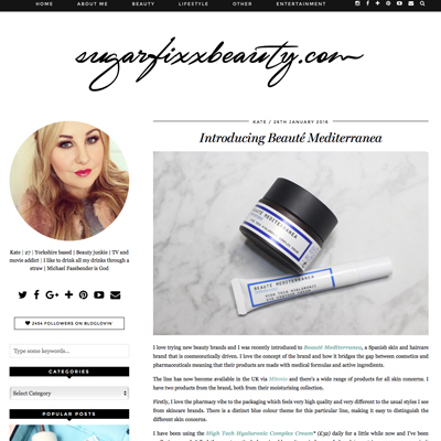 Mitonia features in sugarfix beauty