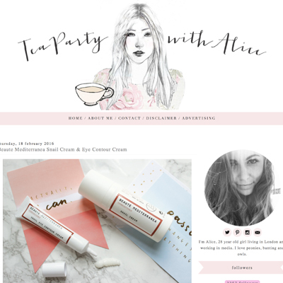 Tea party with alice blogger review of Beatue' Mediterranea